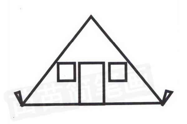 帐篷简笔画怎么画步骤四