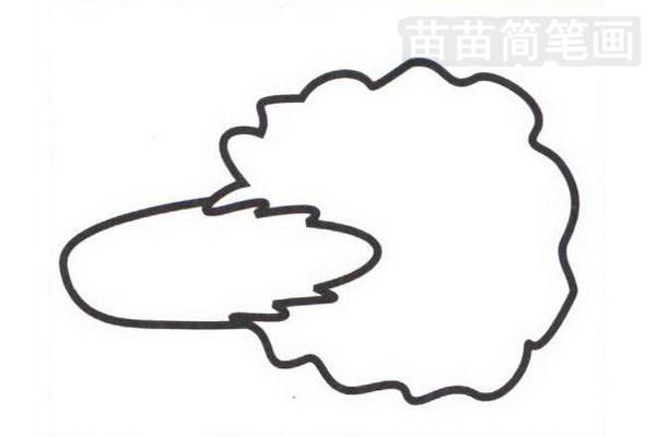 白菜简笔画怎么画