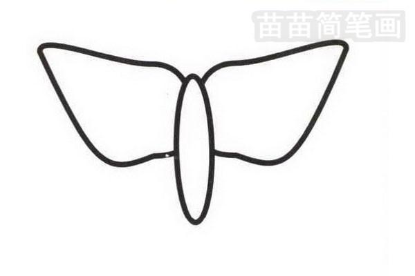 蝴蝶花简笔画怎么画步骤二