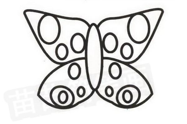 蝴蝶花简笔画怎么画步骤四