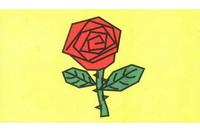 玫瑰花简笔画步骤分解彩色教程