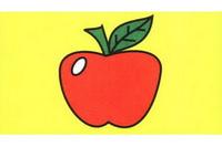 苹果简笔画怎么画