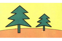 松树简笔画步骤分解彩色教程