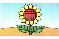 向日葵简笔画步骤分解彩色教程