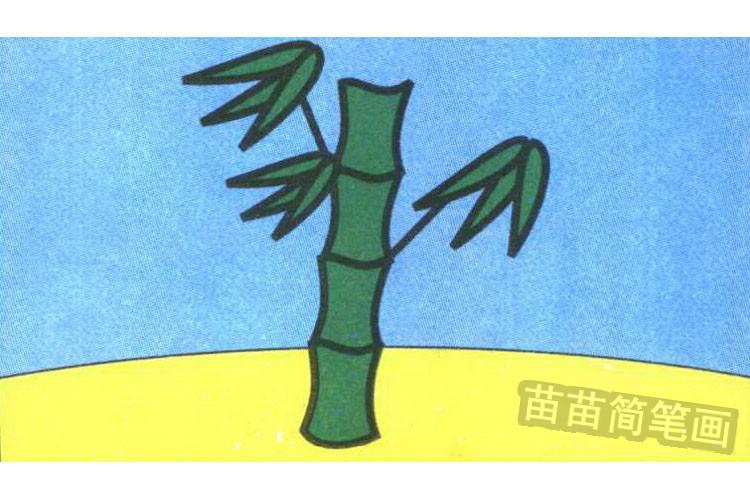 竹子简笔画怎么画