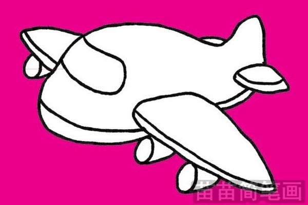 飞机简笔画图片大全作品五