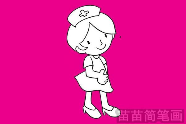 护士简笔画图片大全作品四