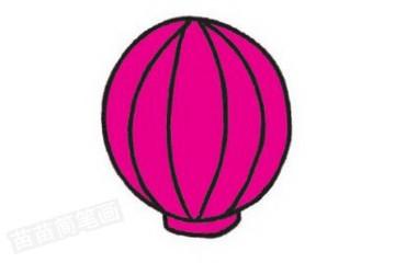 热气球简笔画图片教程步骤二