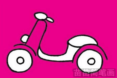 摩托车简笔画图片大全 教程