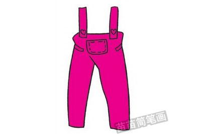 长裤简笔画图片教程步骤四