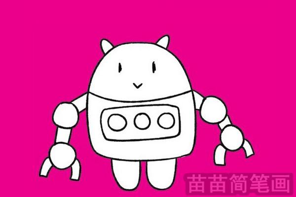 机器人简笔画图片大全 教程