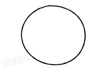 戒指简笔画图片教程步骤一