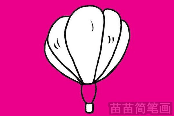 热气球简笔画图片大全作品二