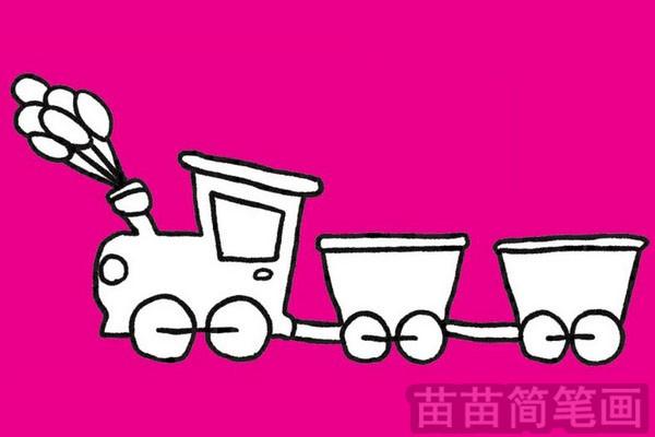 火车简笔画图片大全,教程图片