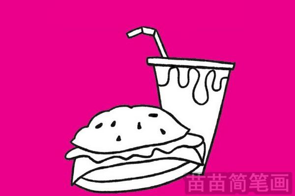 快餐简笔画图片大全作品五