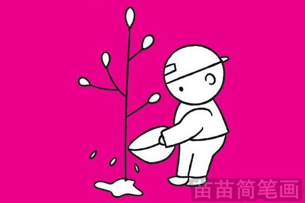 植树节简笔画图片大全作品五