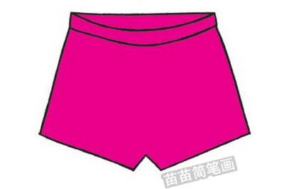 短裤简笔画图片教程步骤三