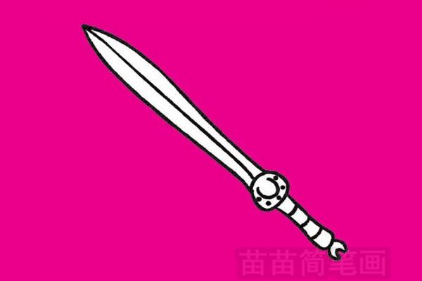 刀剑简笔画图片大全作品四