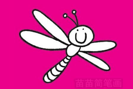 蜻蜓简笔画图片大全 教程