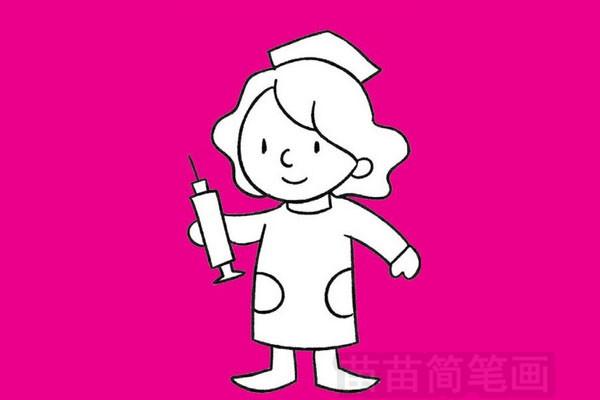 护士简笔画图片大全作品五