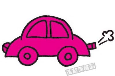 轿车简笔画图片教程步骤四