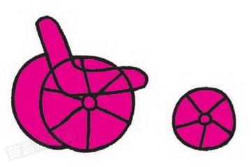 三轮车简笔画图片教程步骤三