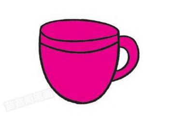 咖啡简笔画图片教程步骤三