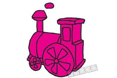 火车简笔画图片教程步骤四