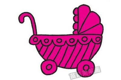 婴儿车简笔画图片教程步骤四