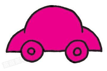 轿车简笔画图片教程步骤二