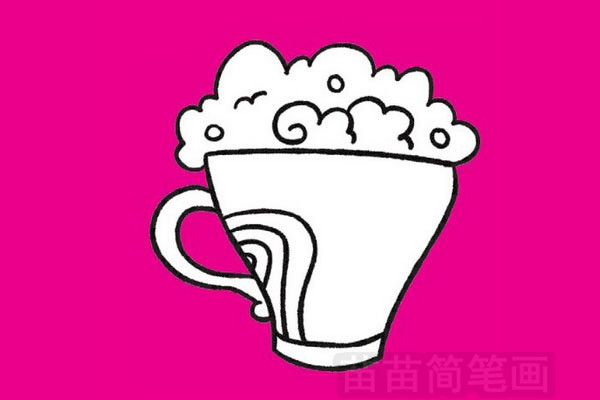 咖啡简笔画图片大全作品四