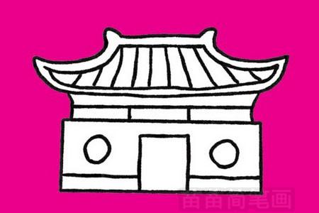 寺庙简笔画图片大全 教程