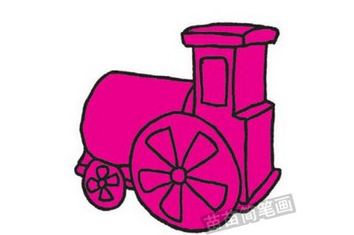 火车简笔画图片教程步骤三