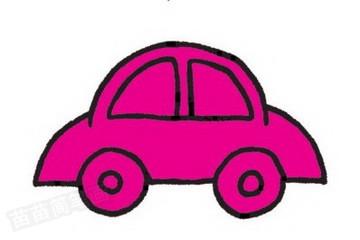 轿车简笔画图片教程步骤三