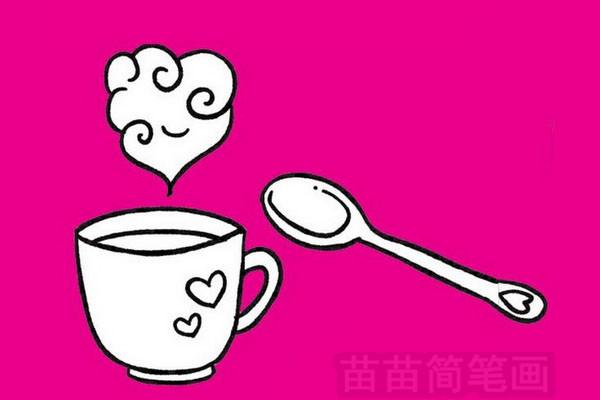 咖啡简笔画图片大全作品一