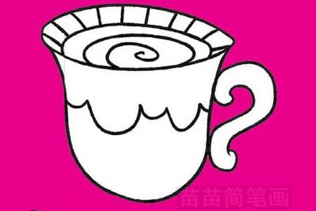 咖啡简笔画图片大全作品五