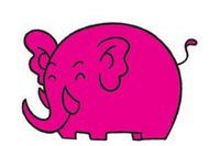 大象简笔画图片大全、教程