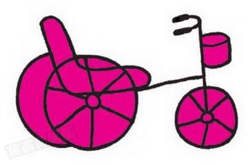三轮车简笔画完成图