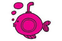 潜水艇简笔画图片大全、教程
