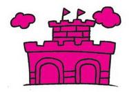 城堡简笔画图片大全、教程