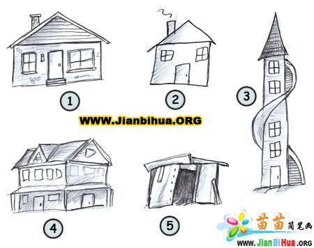 如何画卡通房子简笔画图片教程(第2张)