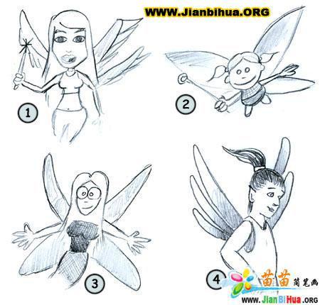 如何画天使女孩简笔画图片教程