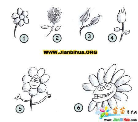如何画卡通花朵简笔画图片教程(第2张)