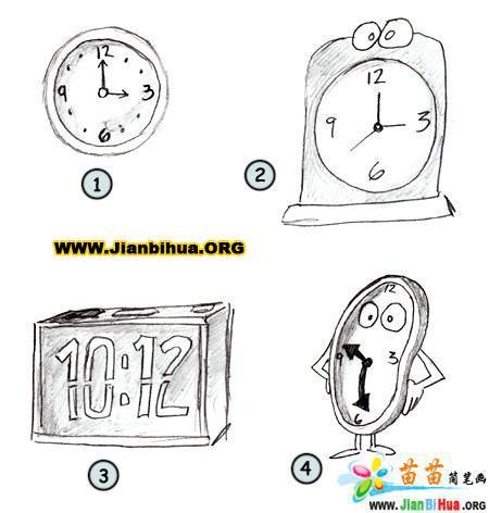 如何画卡通钟表简笔画图片教程(第4张)