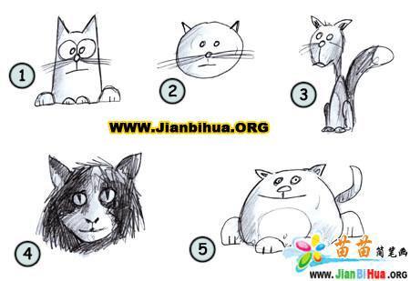 如何画卡通猫简笔画图片教程 第2张