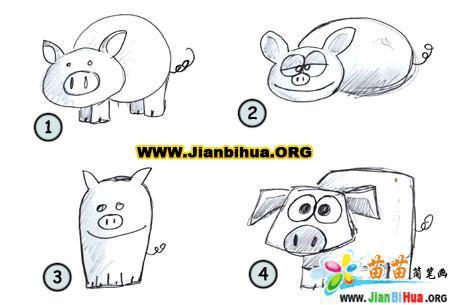 如何画小猪简笔画图片教程