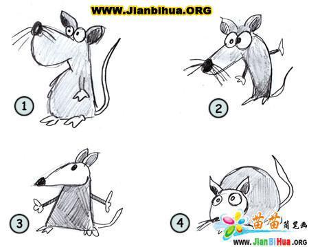 如何画卡通老鼠简笔画图片教程(第2张)