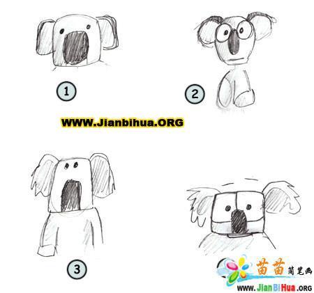 如何画树袋熊简笔画图片教程