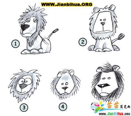 但是用简笔画把它画出来却是萌萌哒,让小编来教你画可爱的卡通狮子的