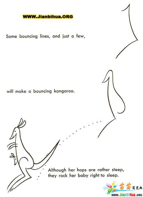 如何画袋鼠简笔画图片教程